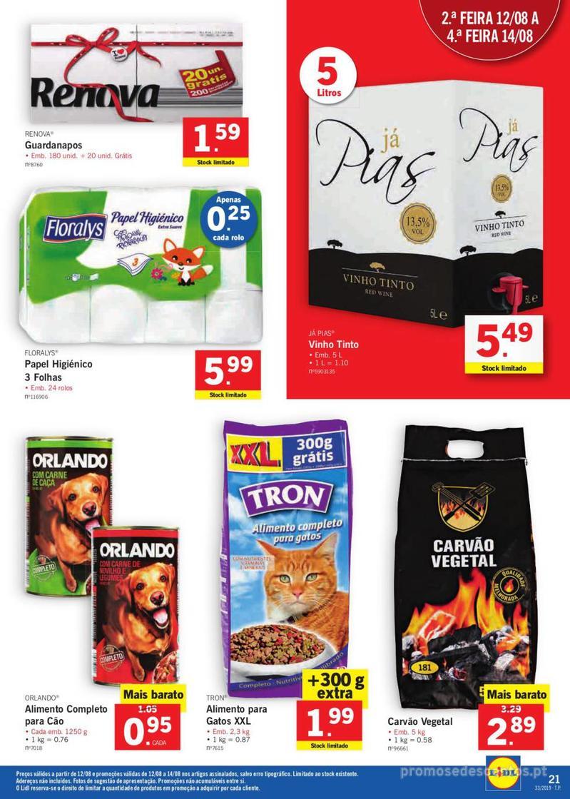 Folheto Lidl Bio Organic - 12 de Agosto a 18 de Agosto - página 21