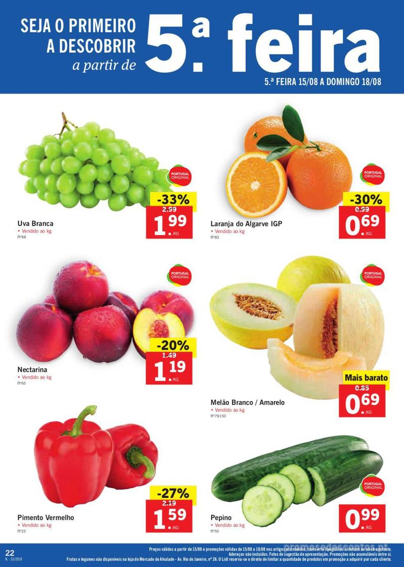 Folheto Lidl Bio Organic - 12 de Agosto a 18 de Agosto - página 22