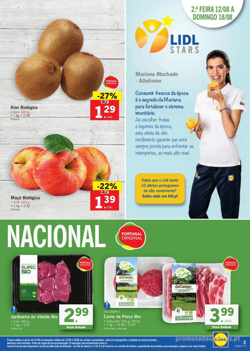 Folheto Lidl Bio Organic - 12 de Agosto a 18 de Agosto - página 3