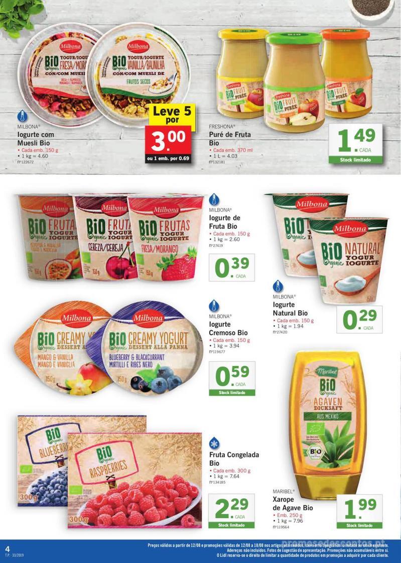Folheto Lidl Bio Organic - 12 de Agosto a 18 de Agosto - página 4