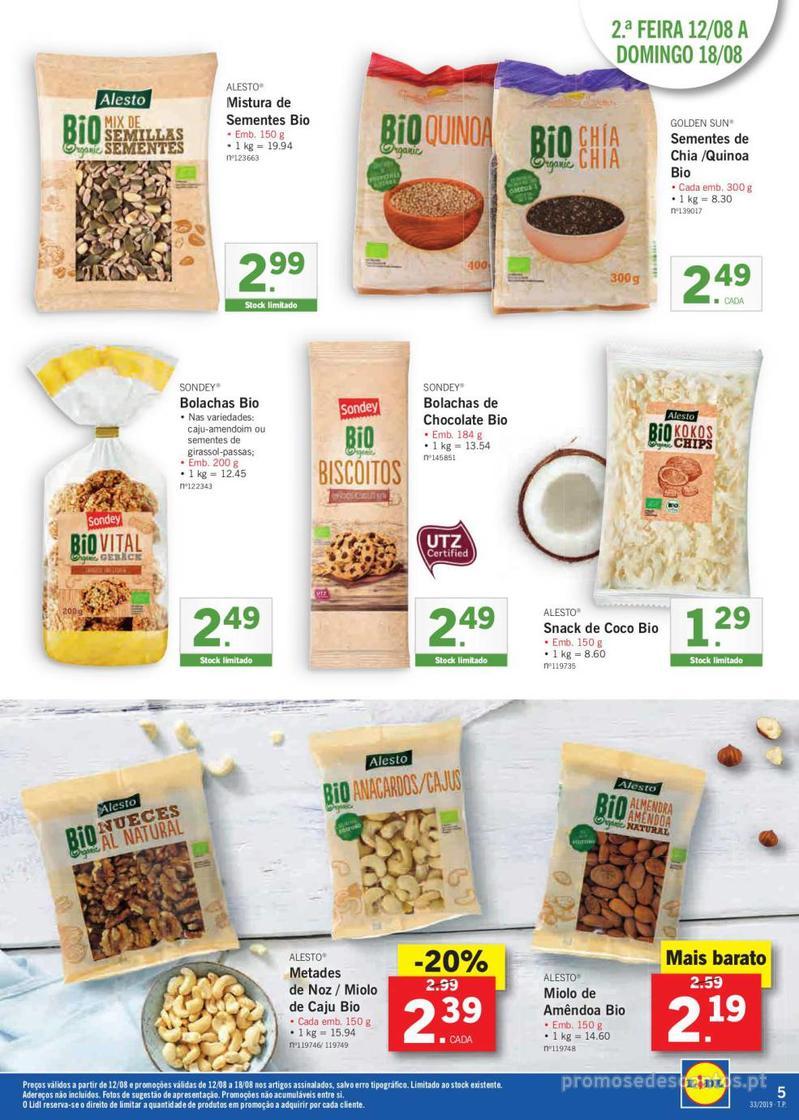 Folheto Lidl Bio Organic - 12 de Agosto a 18 de Agosto - página 5