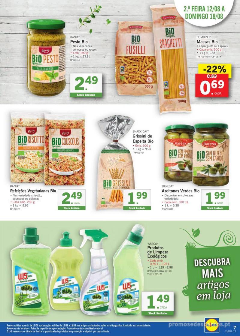 Folheto Lidl Bio Organic - 12 de Agosto a 18 de Agosto - página 7