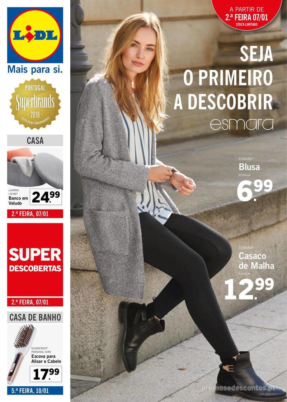 Folheto Lidl Seja a primeira a descobri - 7 de Janeiro a 13 de Janeiro - página 1