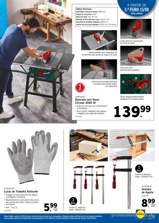 Folheto Lidl Mais para si! - 12 de Agosto a 18 de Agosto - página 13