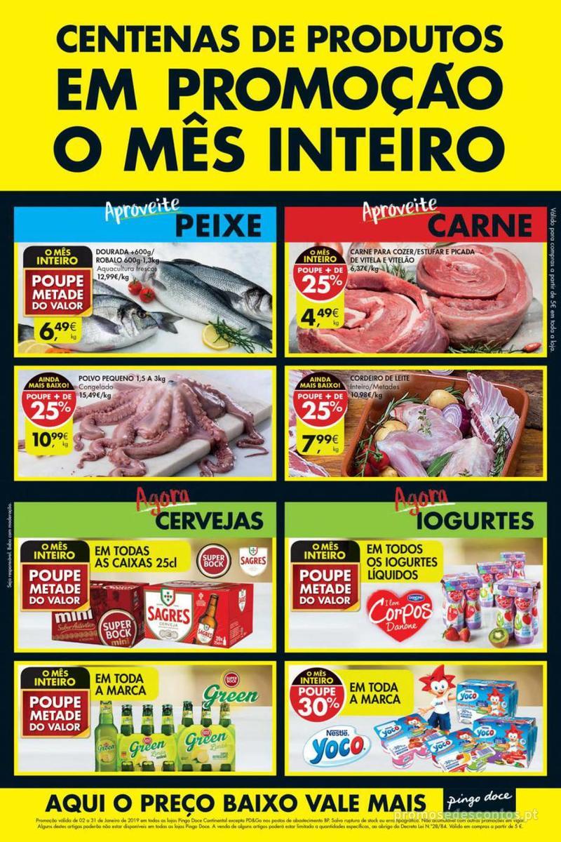 Folheto Pingo Doce Poupe este Fim de semana - 10 de Janeiro a 13 de Janeiro - página 1