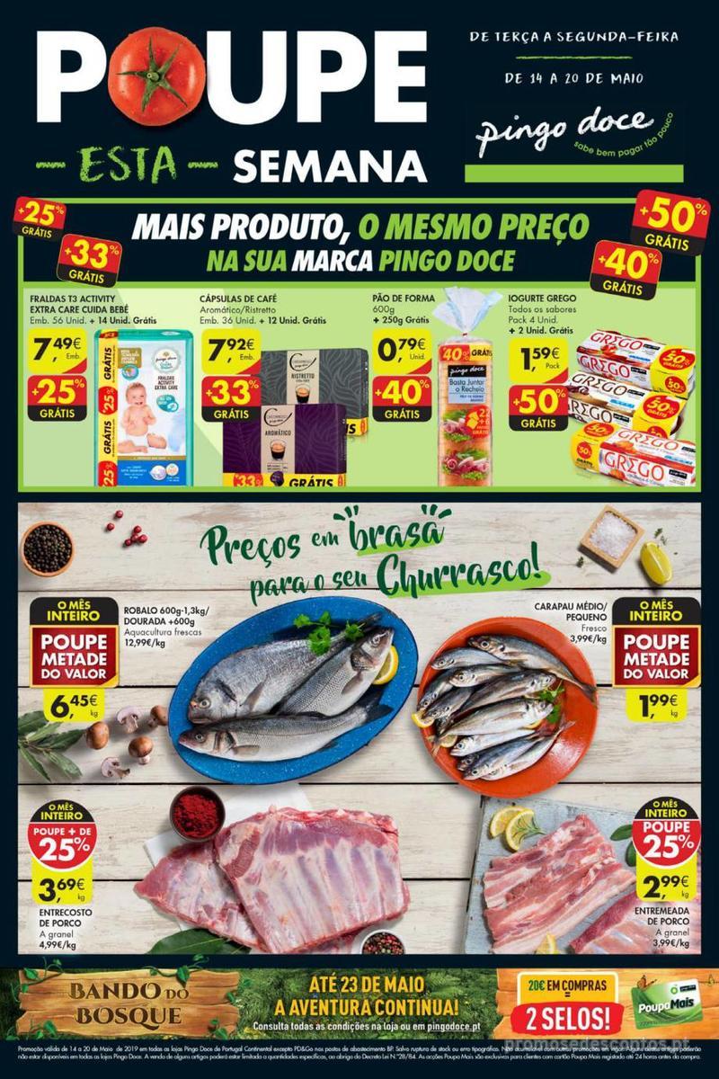 Folheto Pingo Doce Poupe esta semana - Lojas Super - 14 de Maio a 20 de Maio - página 1