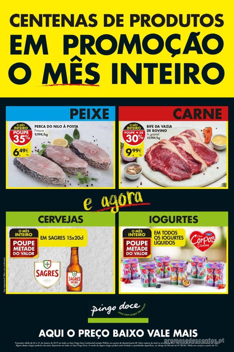 Folheto Pingo Doce Poupe esta semana - Mega/Hiper - 8 de Janeiro a 14 de Janeiro - página 1