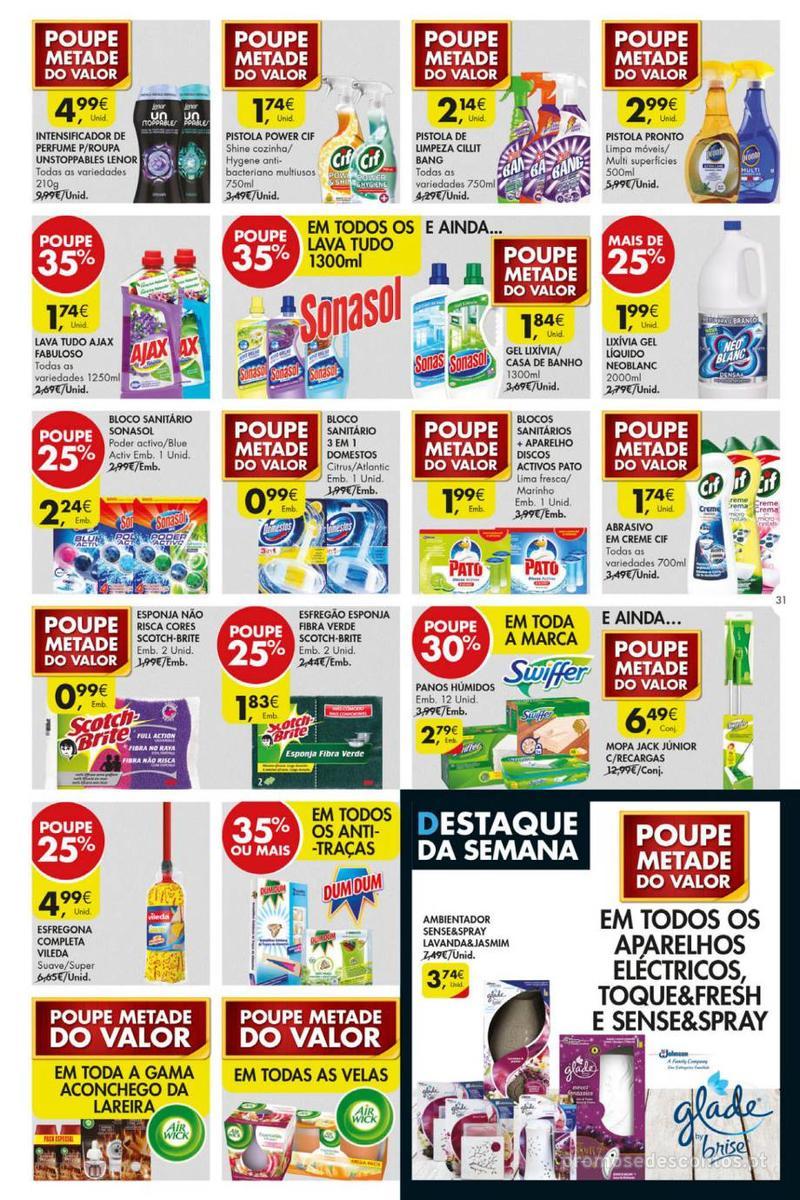 Folheto Pingo Doce Poupe esta semana - Mega/Hiper - 8 de Janeiro a 14 de Janeiro - página 31