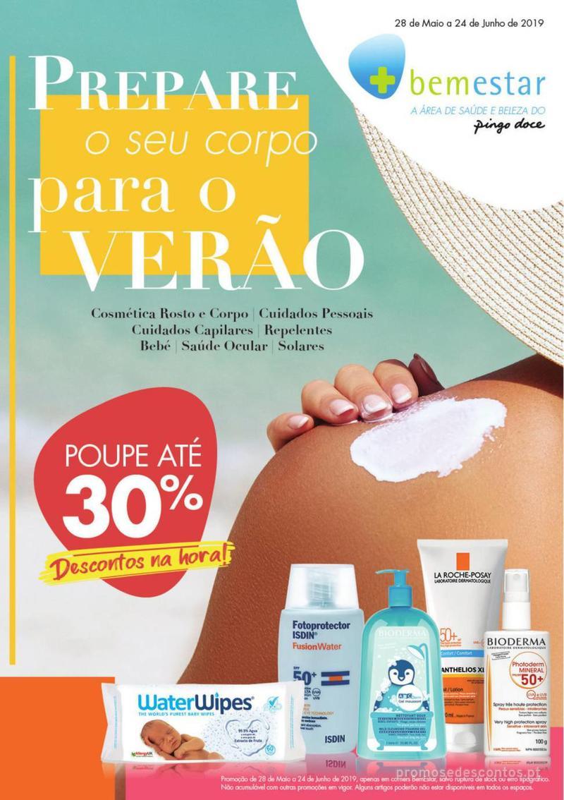 Folheto Pingo Doce Prepare o seu corpo para o verão - 28 de Maio a 24 de Junho - página 1