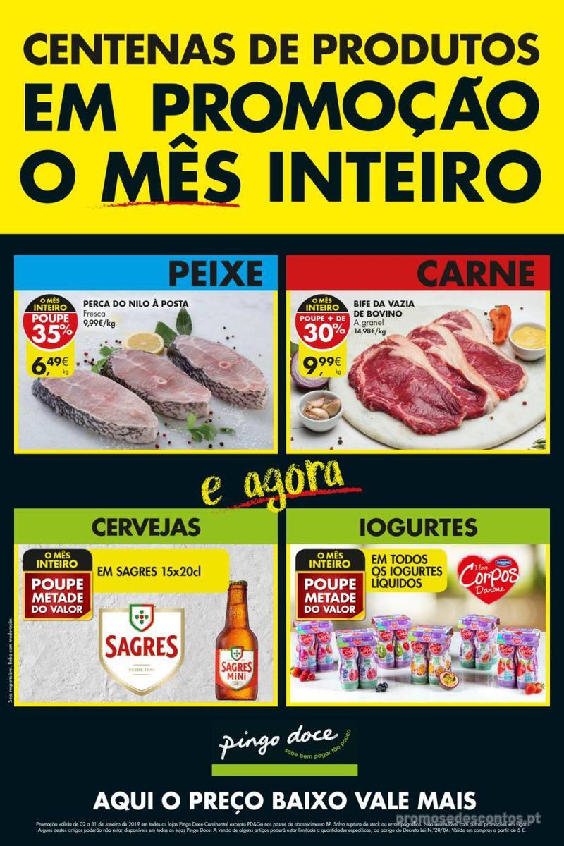 Folheto Pingo Doce Poupe esta semana - Super - 8 de Janeiro a 14 de Janeiro - página 1