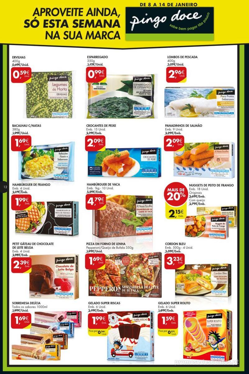 Folheto Pingo Doce Poupe esta semana - Super - 8 de Janeiro a 14 de Janeiro - página 12