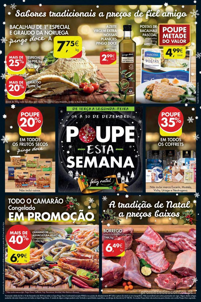 Folheto Pingo Doce Poupe esta semana - Mega/Hiper - 4 de Dezembro a 10 de Dezembro - página 1