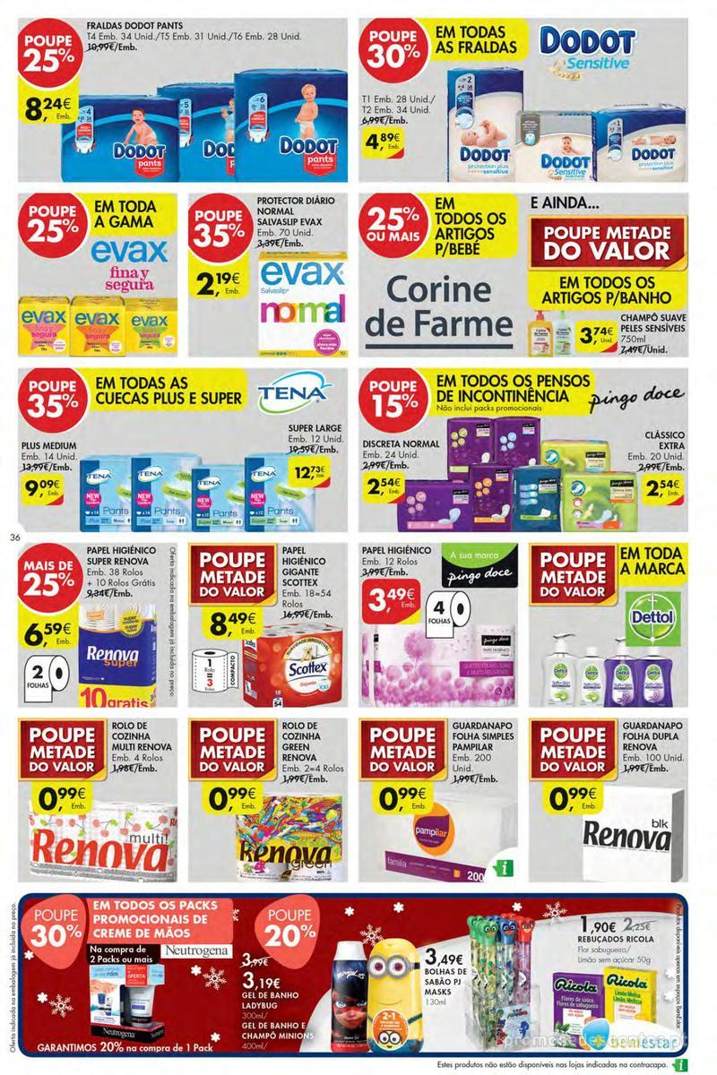 Folheto Pingo Doce Poupe esta semana - Mega/Hiper - 4 de Dezembro a 10 de Dezembro - página 36