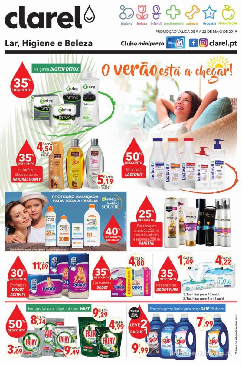 Folheto Minipreço Clarel - O verão está a chegar! - 9 de Maio a 22 de Maio - página 1