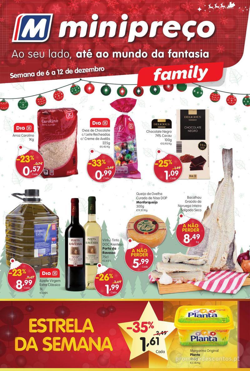 Folheto Minipreço Ao seu lado, até ao mundo da fantasia - Family - 6 de Dezembro a 12 de Dezembro - página 1