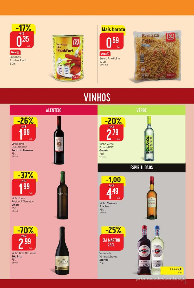 Folheto Minipreço Ao seu lado, aos preços mais baixos - 8 de Agosto a 14 de Agosto pág. 11