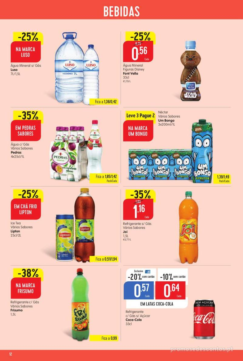 Folheto Minipreço Ao seu lado, aos preços mais baixos - 8 de Agosto a 14 de Agosto pág. 12