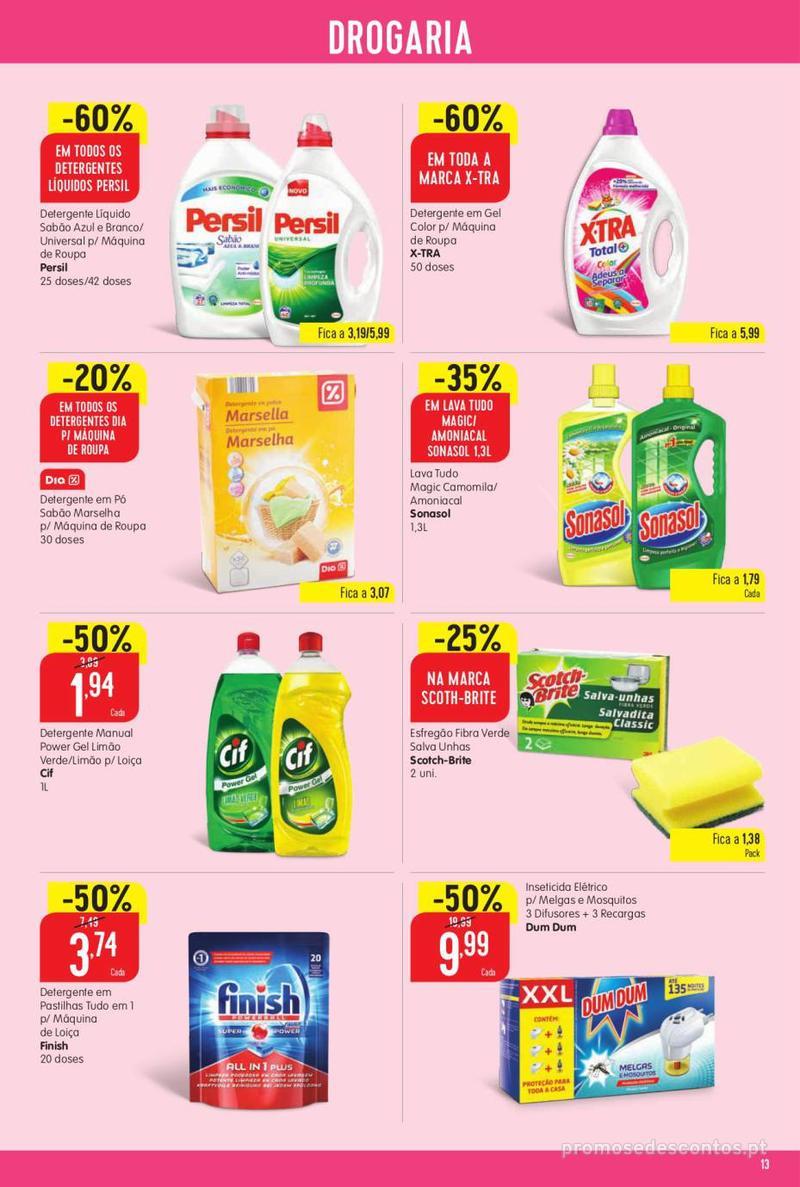 Folheto Minipreço Ao seu lado, aos preços mais baixos - 8 de Agosto a 14 de Agosto pág. 13