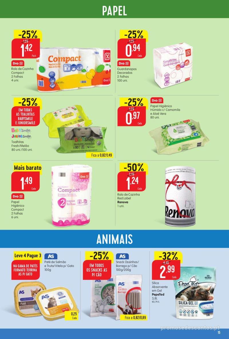 Folheto Minipreço Ao seu lado, aos preços mais baixos - 8 de Agosto a 14 de Agosto pág. 15