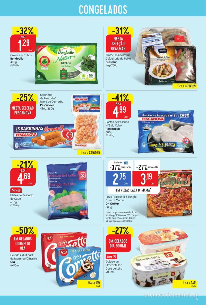 Folheto Minipreço Ao seu lado, aos preços mais baixos - 8 de Agosto a 14 de Agosto pág. 5