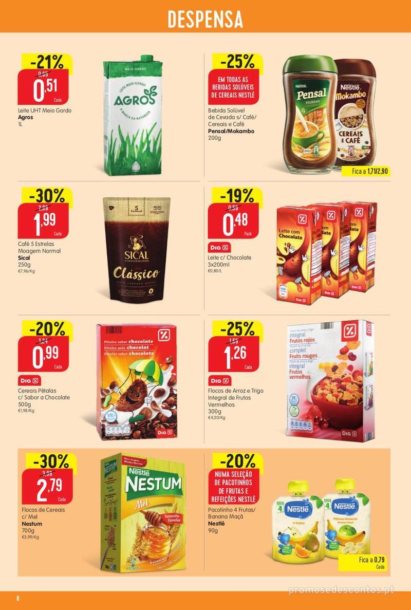 Folheto Minipreço Ao seu lado, aos preços mais baixos - 8 de Agosto a 14 de Agosto pág. 8