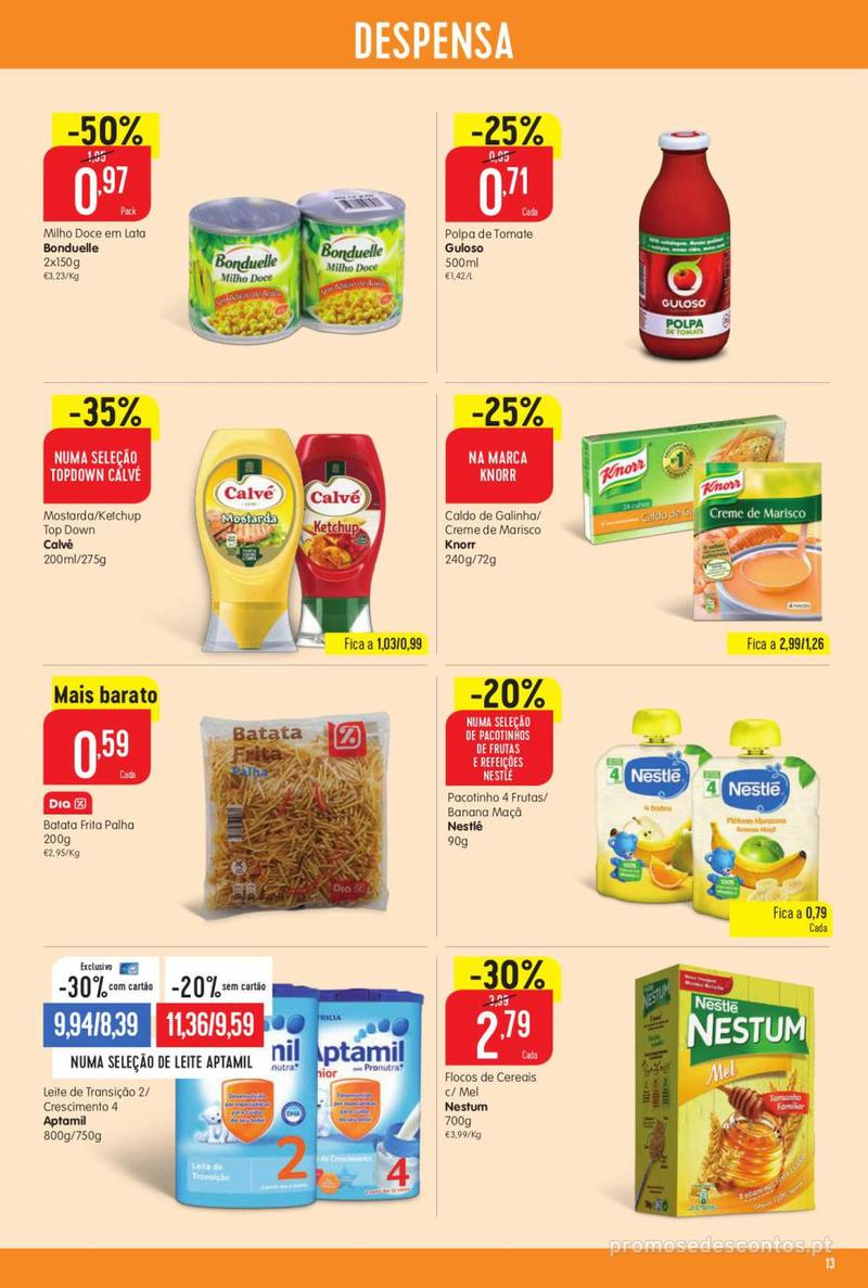 Folheto Minipreço Ao seu lado, aos preços mais baixos - Family - 8 de Agosto a 14 de Agosto - página 13