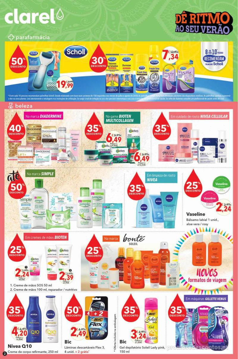 Folheto Minipreço Clarel - Viva o verão beleza - 8 de Agosto a 21 de Agosto - página 2