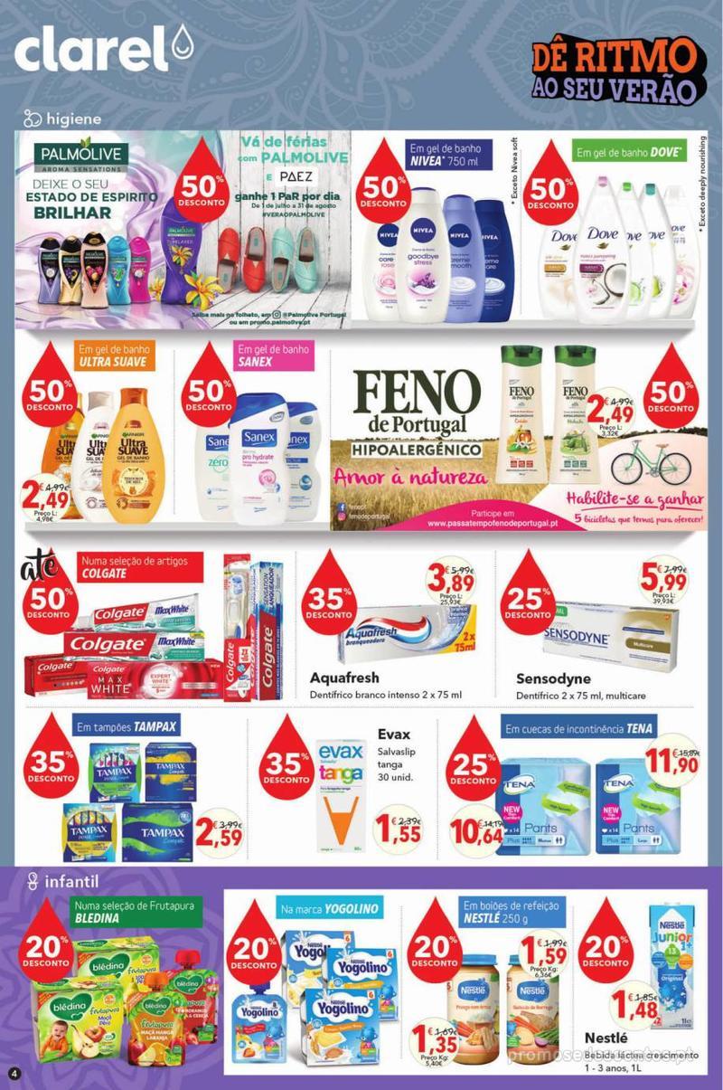 Folheto Minipreço Clarel - Viva o verão beleza - 8 de Agosto a 21 de Agosto - página 4