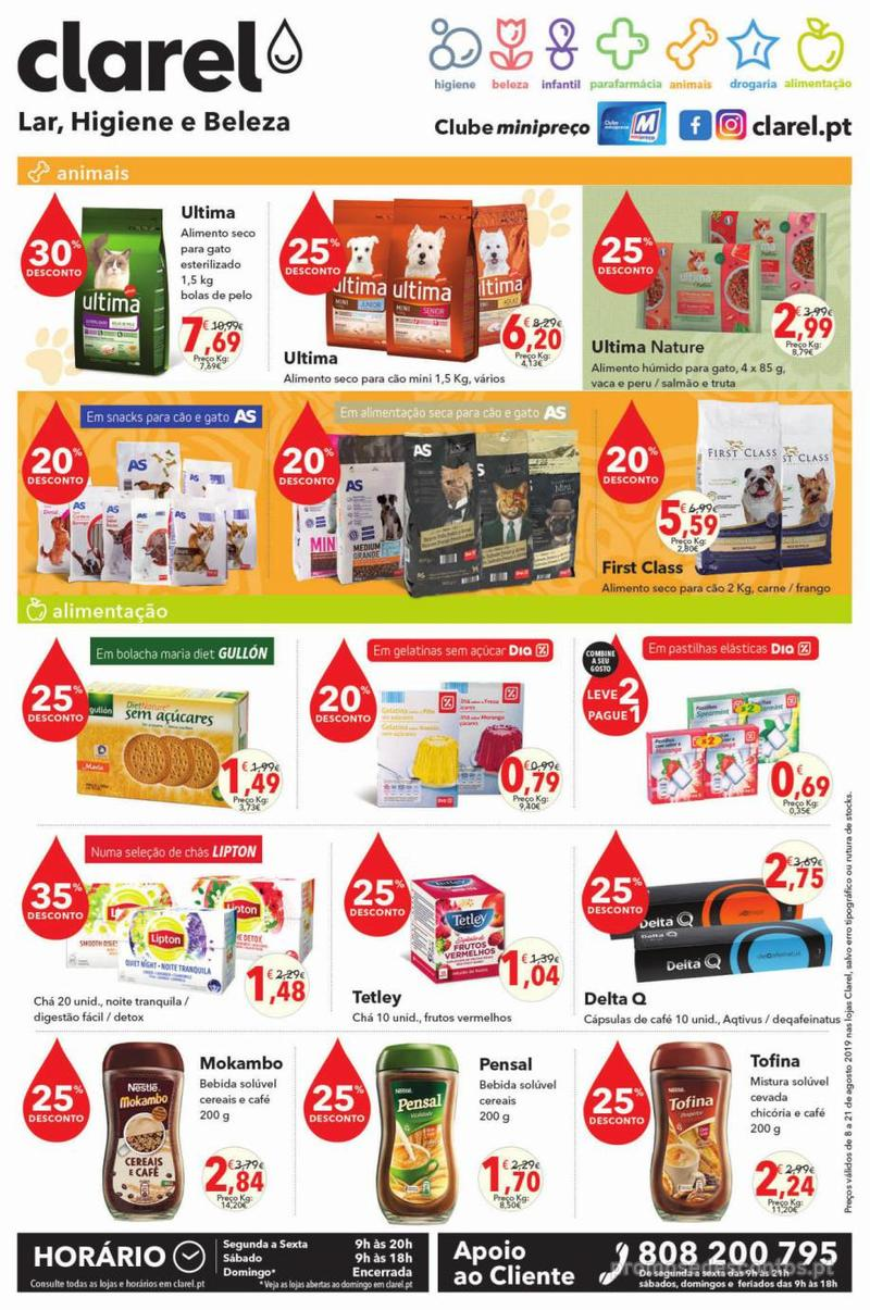 Folheto Minipreço Clarel - Viva o verão beleza - 8 de Agosto a 21 de Agosto - página 8