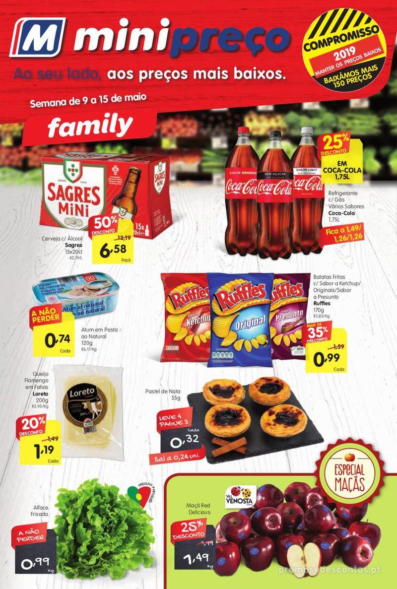 Folheto Minipreço Ao seu lado com os melhores preços - Family - 9 de Maio a 15 de Maio - página 1
