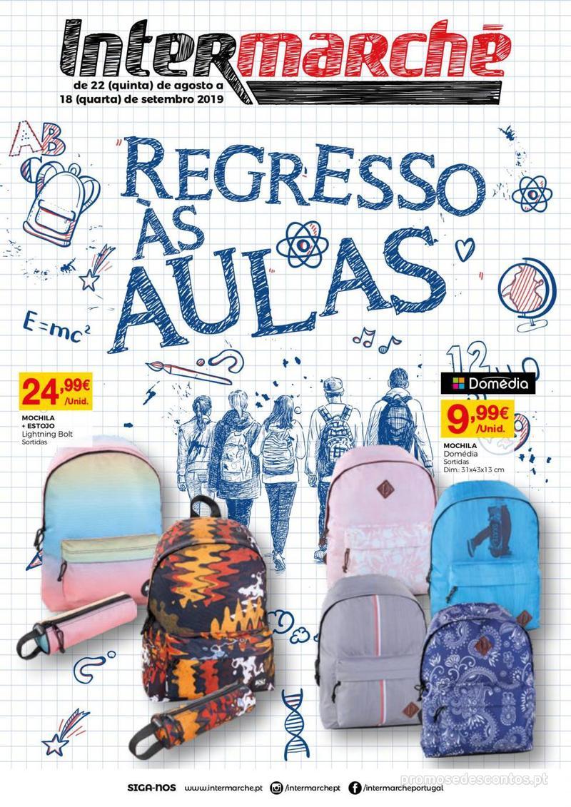 Folheto Intermarché Regresso às aulas - 22 de Agosto a 18 de Setembro - página 1
