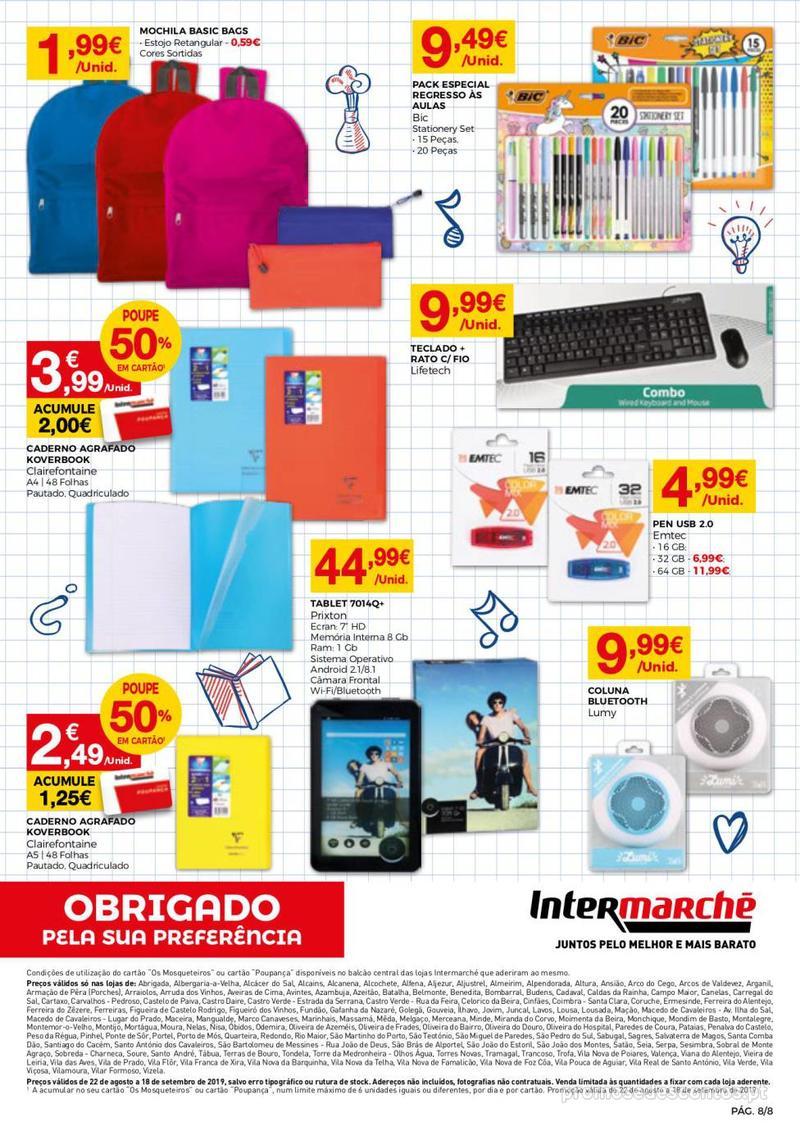 Folheto Intermarché Regresso às aulas - 22 de Agosto a 18 de Setembro - página 8