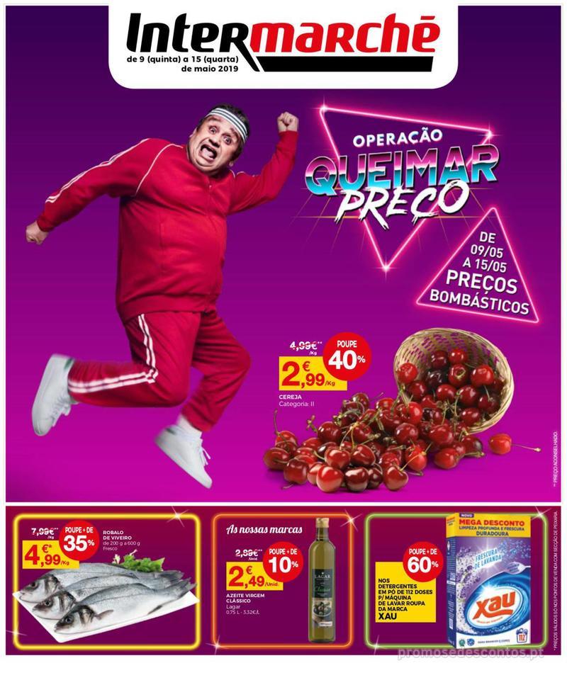 Folheto Intermarché Operação queimar preço - Contact - 9 de Maio a 15 de Maio - página 1