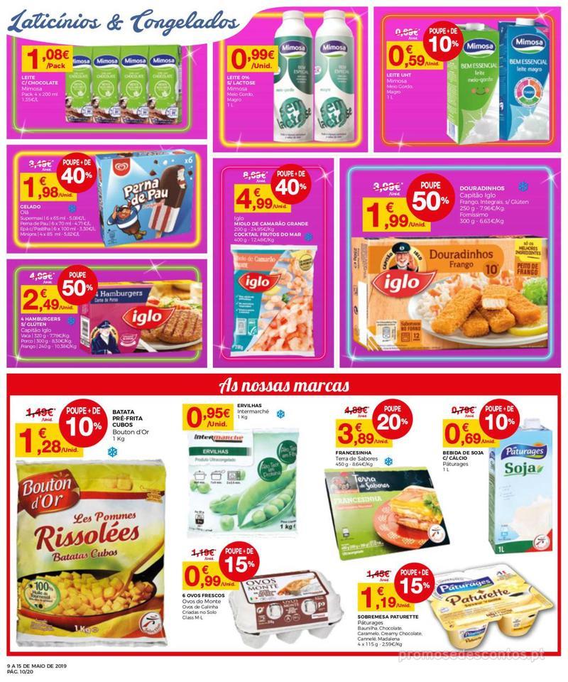 Folheto Intermarché Operação queimar preço - Contact - 9 de Maio a 15 de Maio - página 10