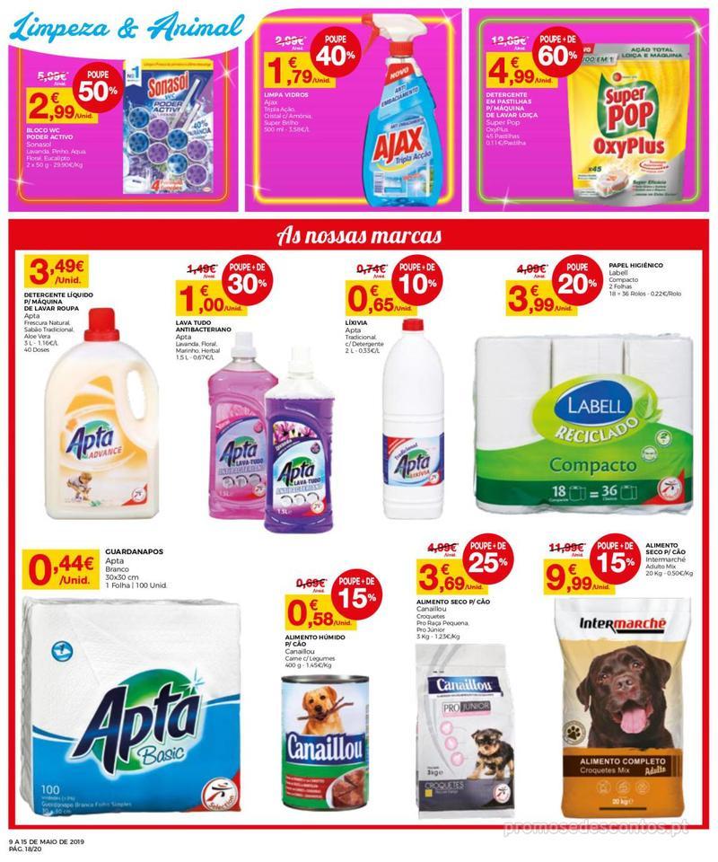 Folheto Intermarché Operação queimar preço - Contact - 9 de Maio a 15 de Maio - página 18