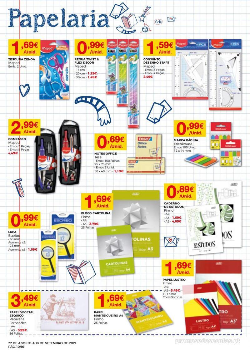 Folheto Intermarché Regresso às aulas - 22 de Agosto a 18 de Setembro - página 10
