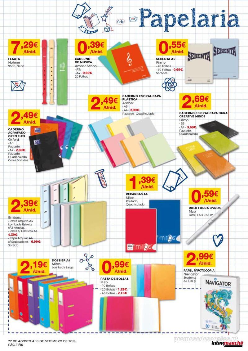 Folheto Intermarché Regresso às aulas - 22 de Agosto a 18 de Setembro - página 11