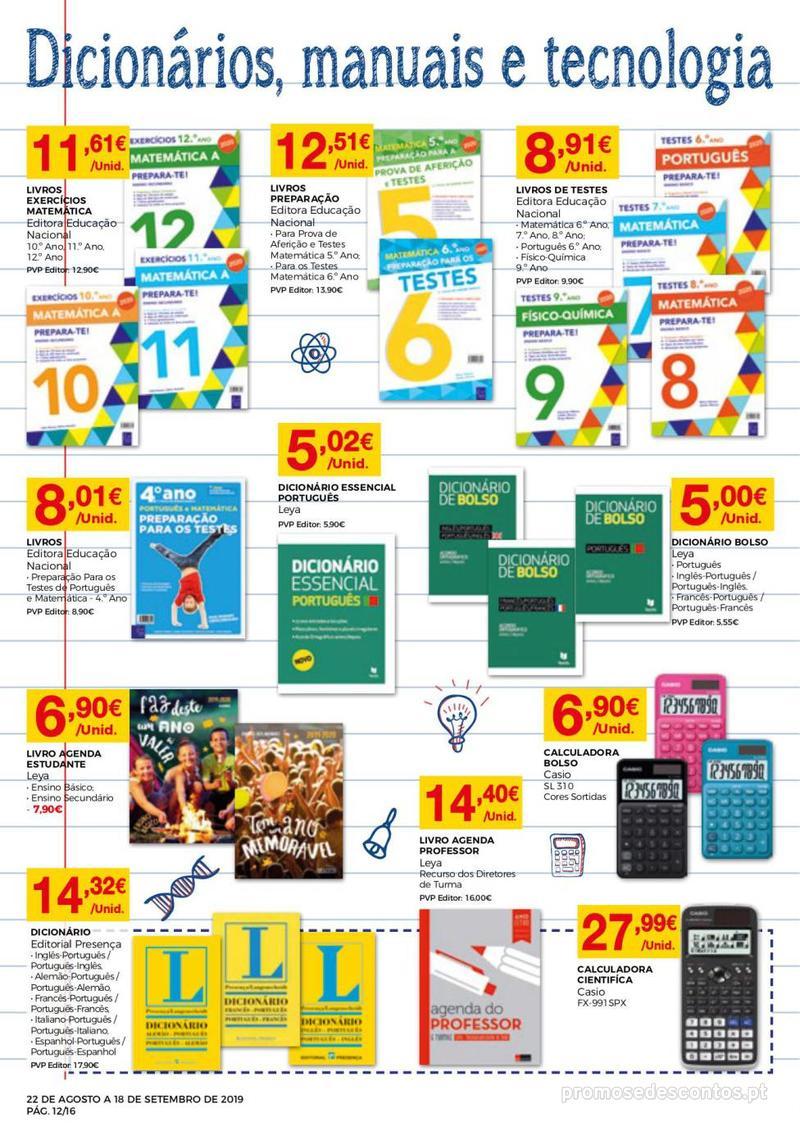 Folheto Intermarché Regresso às aulas - 22 de Agosto a 18 de Setembro - página 12