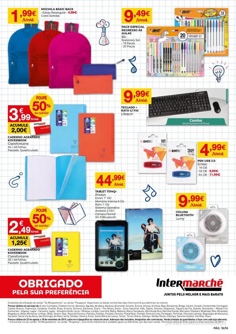 Folheto Intermarché Regresso às aulas - 22 de Agosto a 18 de Setembro - página 16