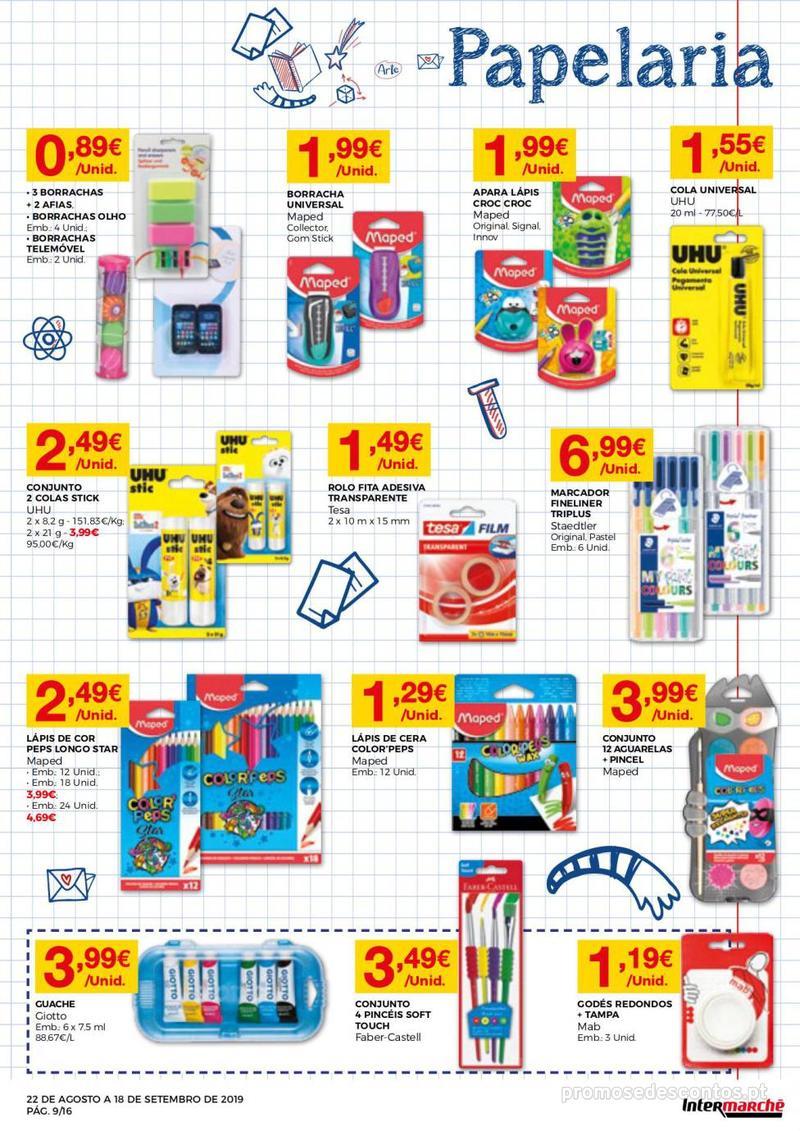 Folheto Intermarché Regresso às aulas - 22 de Agosto a 18 de Setembro - página 9