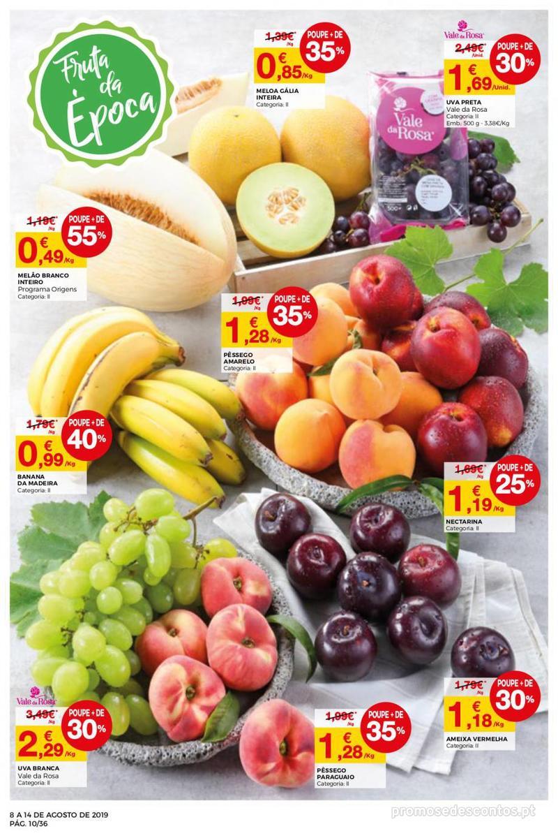 Folheto Intermarché Daqui leva a pausa que precisa e que sabe ainda melhor - Super - 8 de Agosto a 14 de Agosto - página 10