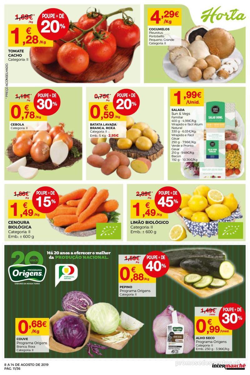 Folheto Intermarché Daqui leva a pausa que precisa e que sabe ainda melhor - Super - 8 de Agosto a 14 de Agosto - página 11