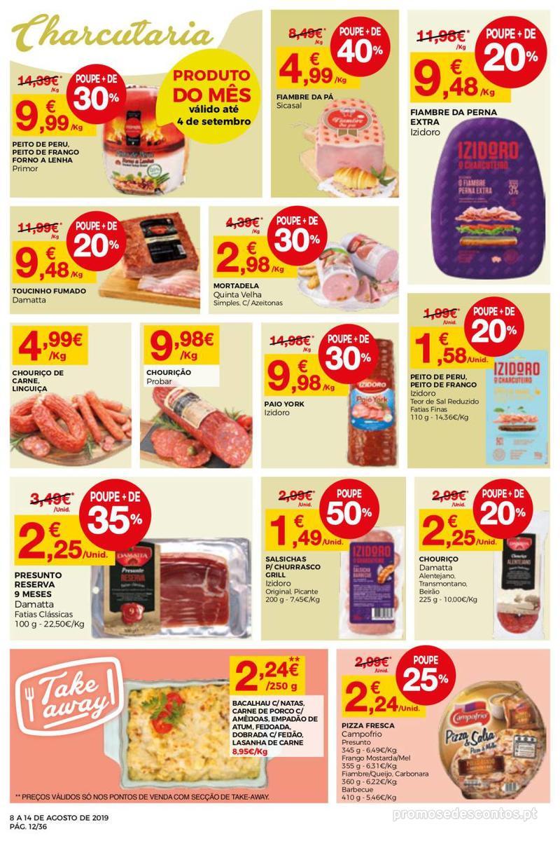 Folheto Intermarché Daqui leva a pausa que precisa e que sabe ainda melhor - Super - 8 de Agosto a 14 de Agosto - página 12