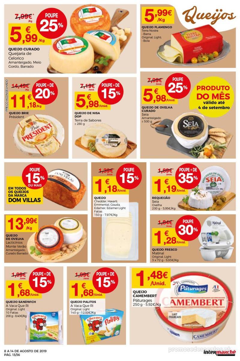 Folheto Intermarché Daqui leva a pausa que precisa e que sabe ainda melhor - Super - 8 de Agosto a 14 de Agosto - página 13