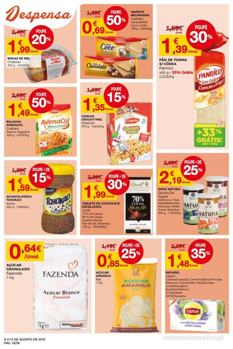 Folheto Intermarché Daqui leva a pausa que precisa e que sabe ainda melhor - Super - 8 de Agosto a 14 de Agosto - página 18