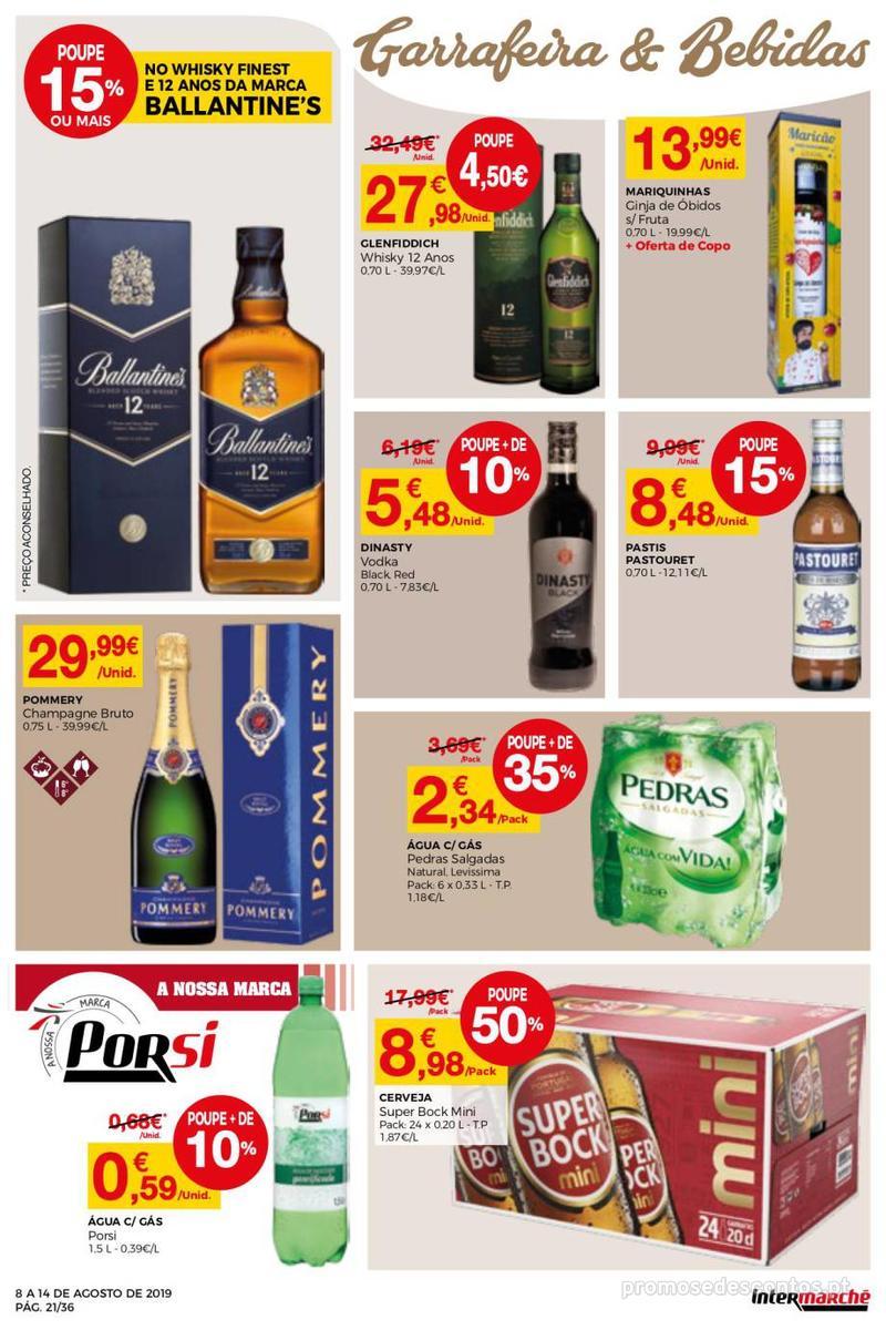 Folheto Intermarché Daqui leva a pausa que precisa e que sabe ainda melhor - Super - 8 de Agosto a 14 de Agosto - página 21
