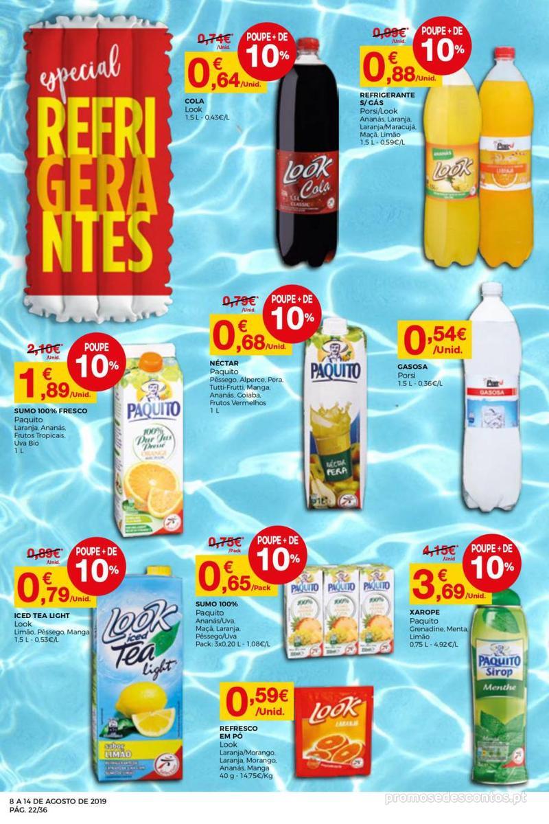 Folheto Intermarché Daqui leva a pausa que precisa e que sabe ainda melhor - Super - 8 de Agosto a 14 de Agosto - página 22
