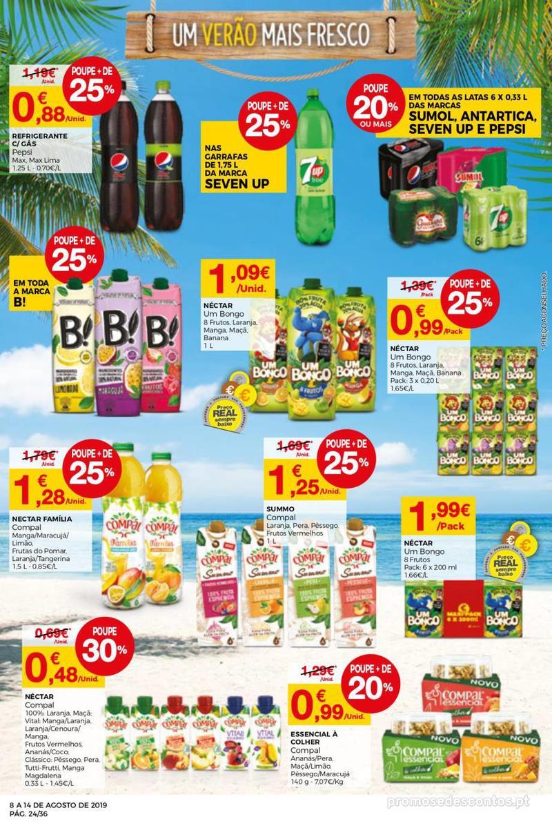 Folheto Intermarché Daqui leva a pausa que precisa e que sabe ainda melhor - Super - 8 de Agosto a 14 de Agosto - página 24