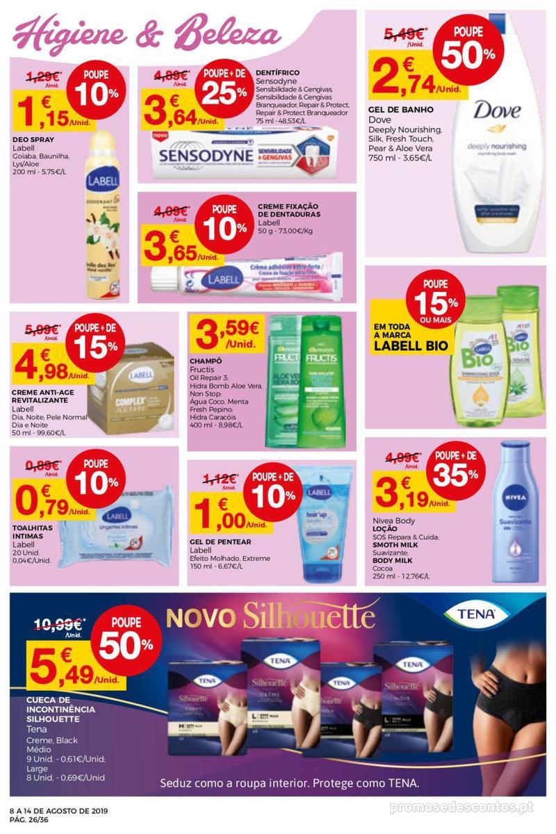 Folheto Intermarché Daqui leva a pausa que precisa e que sabe ainda melhor - Super - 8 de Agosto a 14 de Agosto - página 26