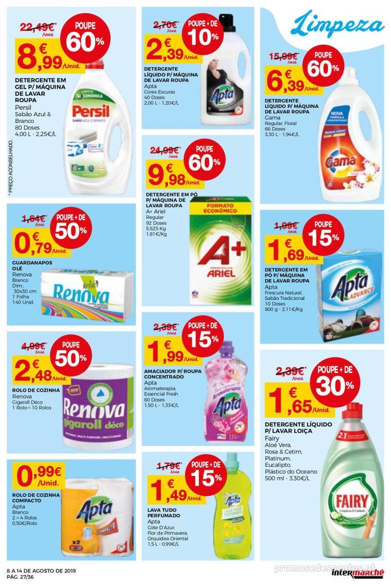 Folheto Intermarché Daqui leva a pausa que precisa e que sabe ainda melhor - Super - 8 de Agosto a 14 de Agosto - página 27